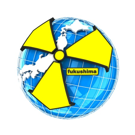 abstract  Japanese  nuclear disaster on the white background photo