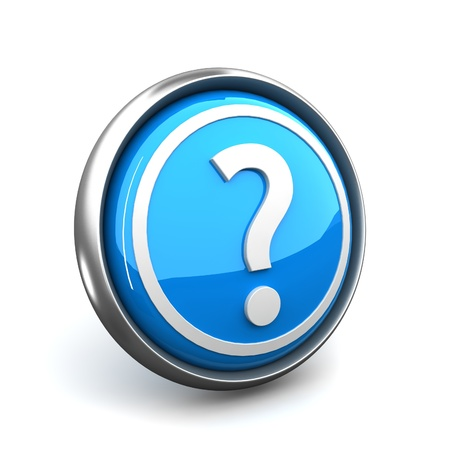 question or help icon on white background Stock Photo - 10468378