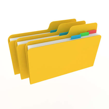 icon folders on a white background Stock Photo - 11023674