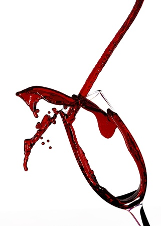 Red Wine Abstract Splashing  photo