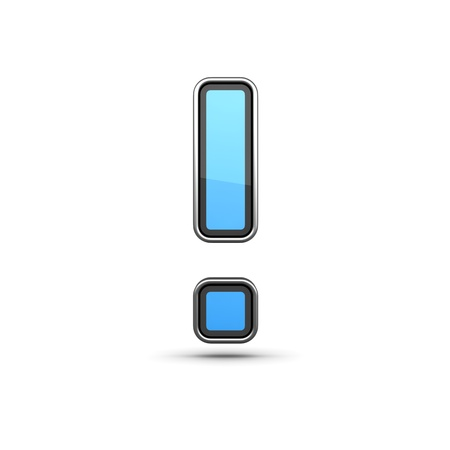 punctuation: Punctuation Signs-Blue Icon made in Modern Design in Metal Border