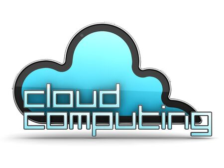 Cloud Computing Illustration. Isolated on white. 3d Concept illustration