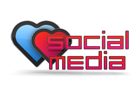 Social Media Concept Isolated on White Stock Photo - 12296178