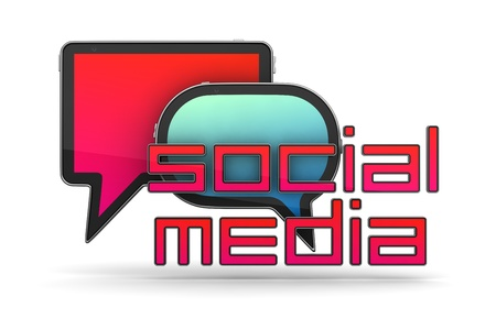Social Media Concept Isolated on White Stock Photo - 12296181