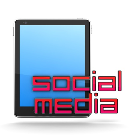 tweet balloon: Social Media Concept Isolated on White Stock Photo