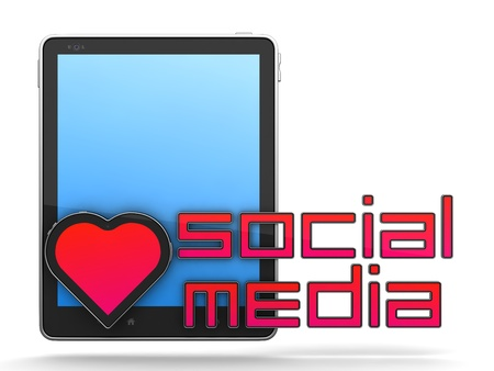 Social Media Concept Isolated on White Stock Photo - 12296185