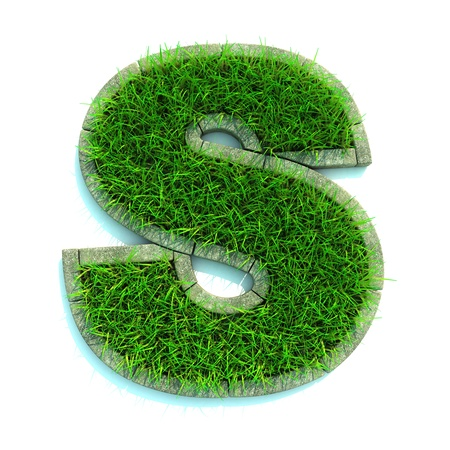 Beautiful Spring Letters and Numbers Made of Grass and Surrounded with  Border Stock Photo - 12687515