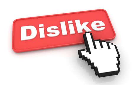 dislike: Afkeer Web Button. Geà ¯ soleerd op witte achtergrond.