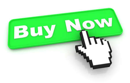 Buy Now Button with Hand Cursor photo