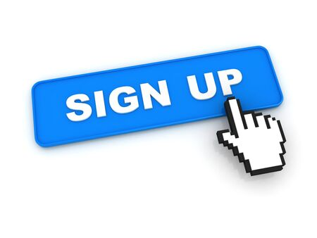 signup: Sign Up Button with Hand Cursor