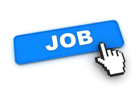 Job Button with Hand Cursor Stock Photo - 12687558