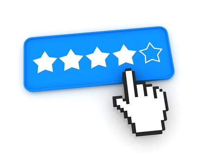 Stars Ratings Button with Cursor Stock Photo - 12687626