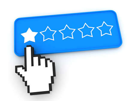 Stars Ratings Button with Cursor photo