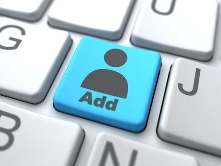 Add User Button-Social Media Concept Stock Photo - 12953385