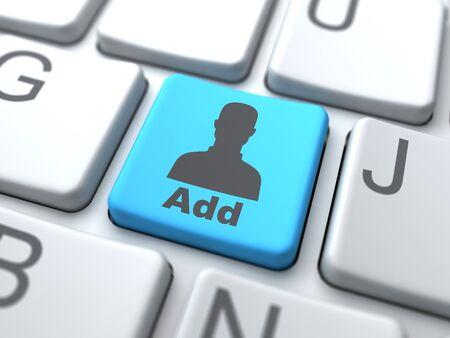 Add User Button-Social Media Concept Stock Photo - 12953387