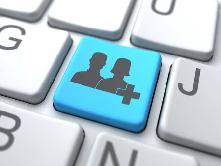 Add User Button-Social Media Concept Stock Photo - 12953423