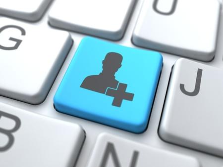 Add User Button-Social Media Concept Stock Photo - 12953417