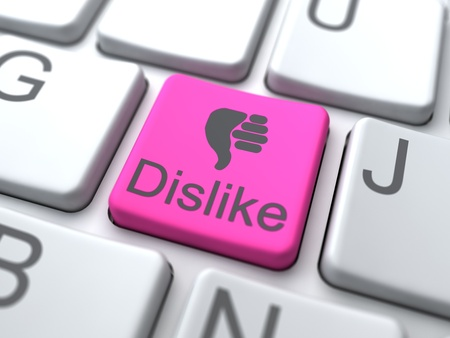 no gustar: No me gusta Web Button. Medios de Comunicaci�n Social de s�ntesis. Foto de archivo
