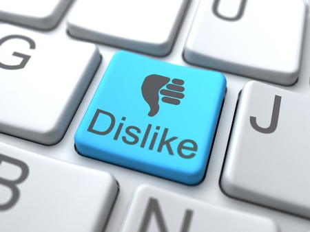 dislike: Afkeer Web Button. Social Media Concept.