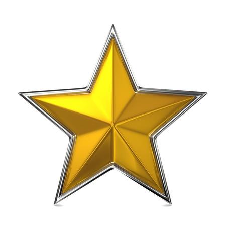 lucero: Golden Star, cocept Recompensa Foto de archivo