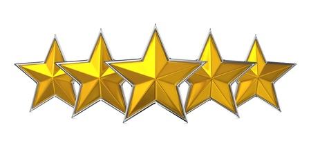 Five Star Reward Cocept Stock Photo - 15076256