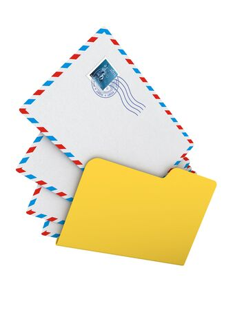 Folder with Mails Stock Photo - 15140402