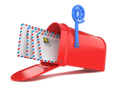 Red Mailbox with Mails photo