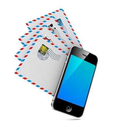 Smartphone with Group of Mails  Stock Photo - 15140400