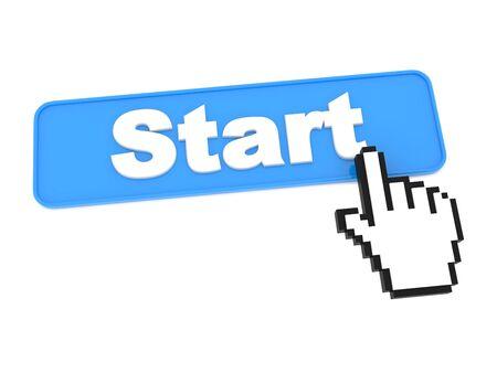 Start Web Button Stock Photo - 15313493