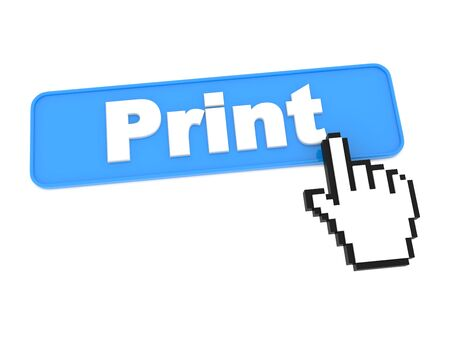 Print Button and Hand Cursor Stock Photo - 15313478