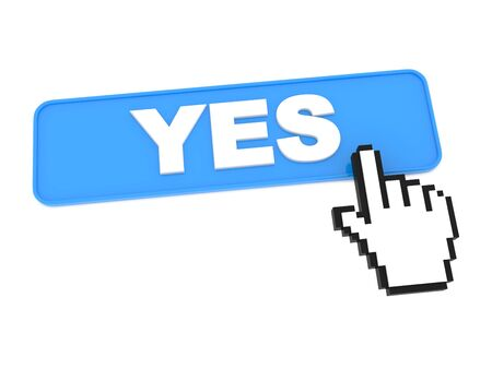 affirm: YES Blue Web Button