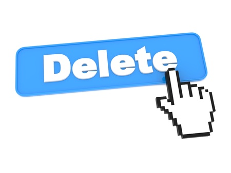 Social Media Button - Delete. Isolated on White Background. photo