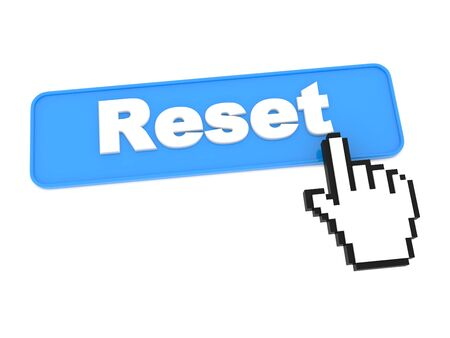 again: Reset Web Button. Isolated on White Background. Stock Photo