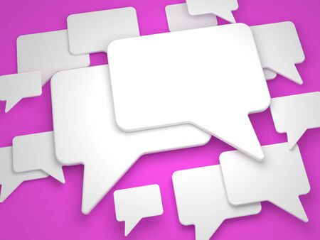 Blank Speech Bubble on Lilac Background Stock Photo - 15328525
