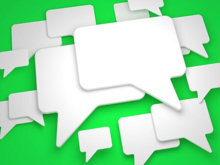 Blank Speech Bubble on Green Background Stock Photo - 15328526