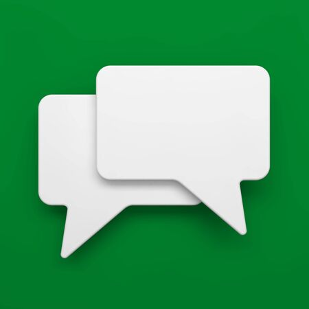 Blank Speech Bubble on Green Background  Stock Photo - 15328539