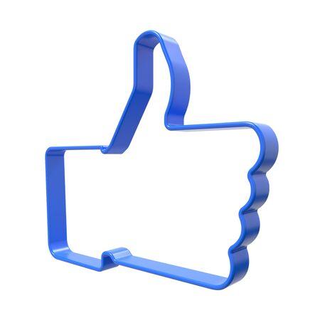 Web Button Dislike  Isolated on White Background Stock Photo - 15328535