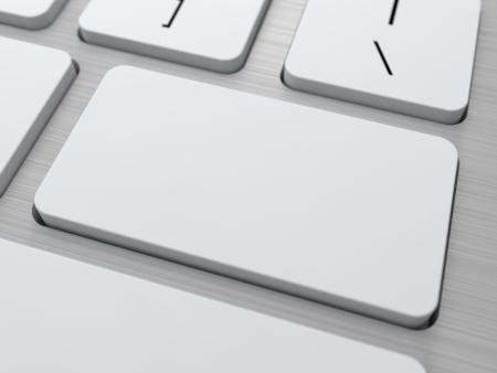 Blank Button on Modern Computer Keyboard  Stock Photo - 15369296