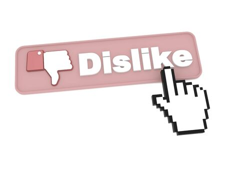 Dislike Button - Social Media Concept