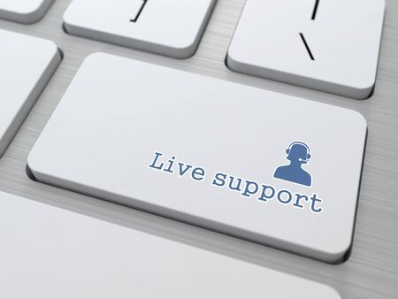 Button on Keyboard   Live Support  photo