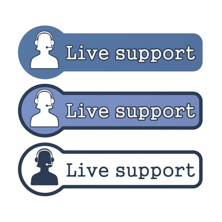 Website Element   Live Support Stock Photo - 15369281