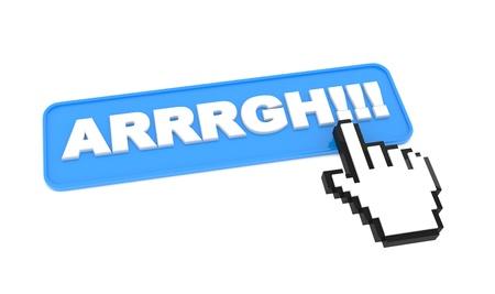 Web Button  ARRRGH     on White Background Stock Photo - 15402425