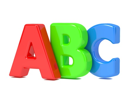 ABC Letters Isolated on White Stock Photo - 15775704