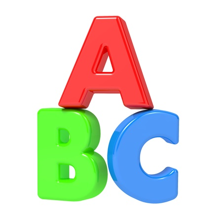 ABC Letters Isolated on White  Stock Photo - 15775691