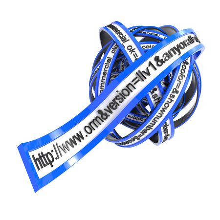 url: World Wide Web Browser Concept Present By URL Address Line in Form of a Blue Ball  Stock Photo