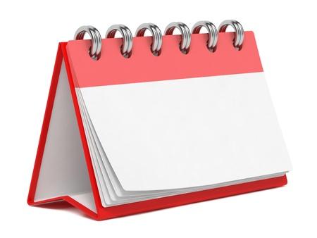 calendario escritorio: Calendario de escritorio en blanco aislado en fondo blanco