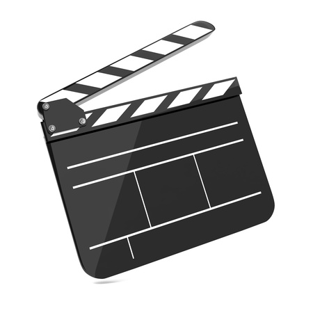 act: Film Clap Board Cinema  Isolated on white Background