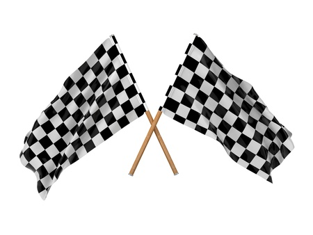 racing checkered flag crossed: Checkered Flags  Racing Checkered Flags Crossed, Finishing Checkered Flag  Stock Photo