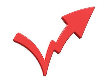 Check Mark Symbolizing Increase  Isolated on White Background Stock Photo - 16374314
