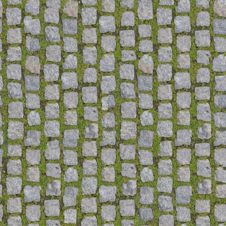 cobble: Stone Block with Grass - Seamless Background   more seamless backgrounds in my folio